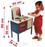 Kinder holzkuche mit zubehor for Kinder holzküche