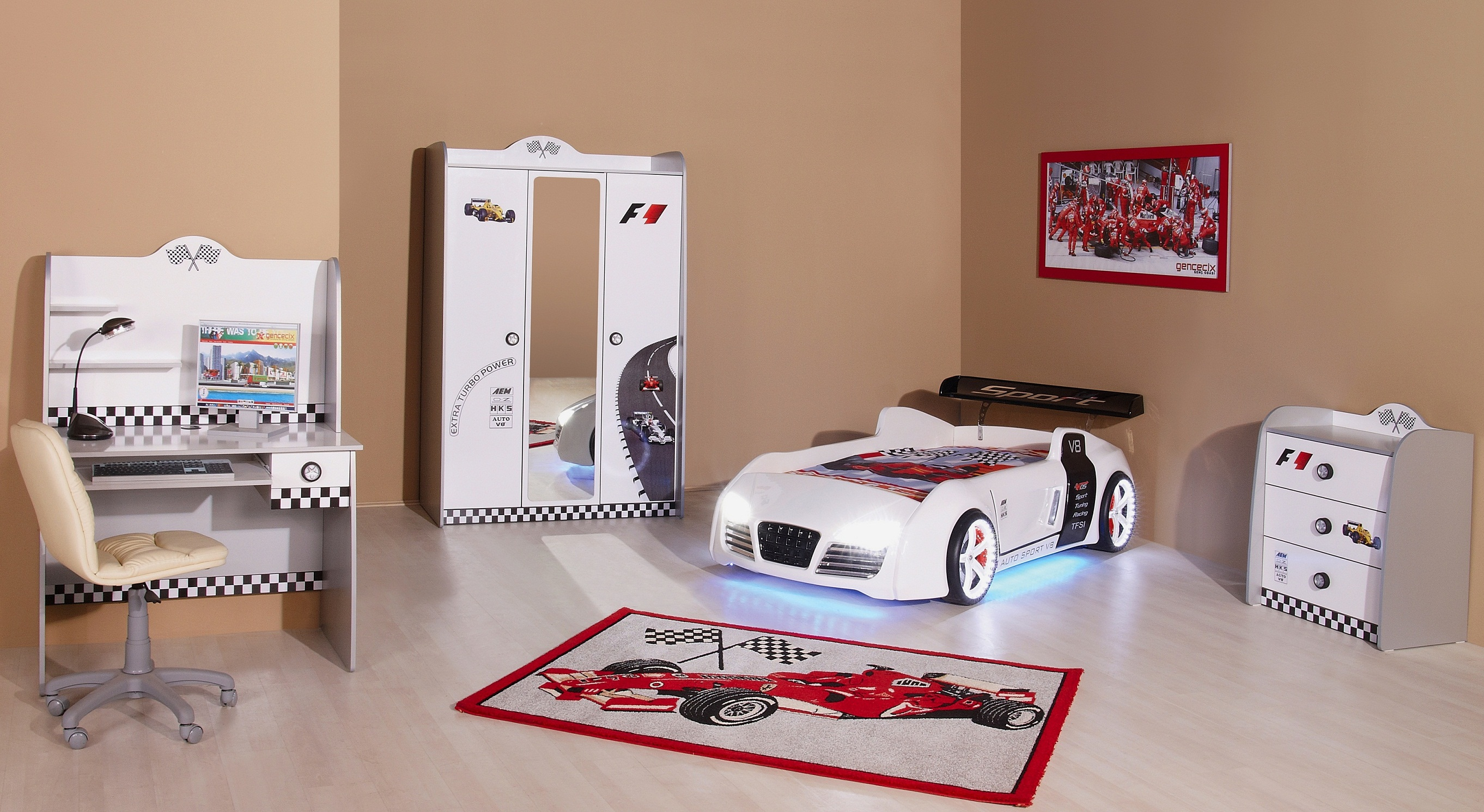 kinderbett auto autobett abenteuerbett kinder spielbett ebay. Black Bedroom Furniture Sets. Home Design Ideas