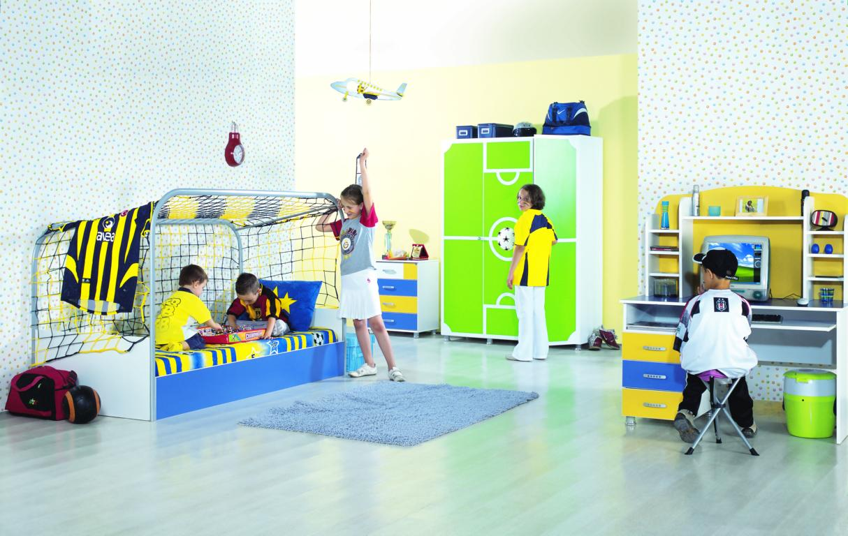 kinderzimmer komplett fussball jugendzimmer. Black Bedroom Furniture Sets. Home Design Ideas