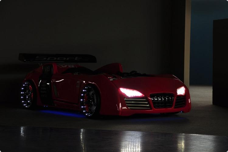 speed racer auto kinderbett. Black Bedroom Furniture Sets. Home Design Ideas