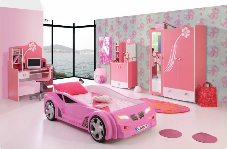 kinderbett auto m dchen. Black Bedroom Furniture Sets. Home Design Ideas