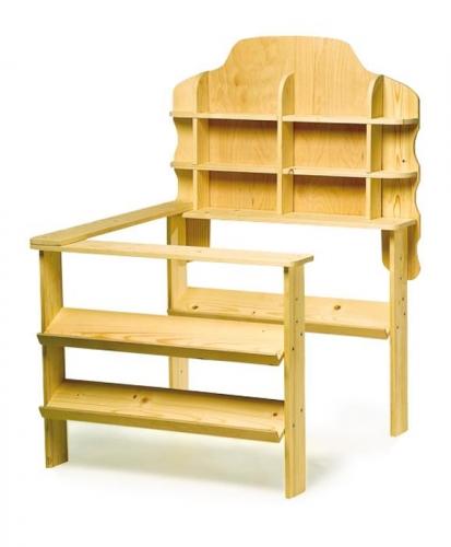 kinder kaufmannsladen aus holz kaufladen mit zubeh r. Black Bedroom Furniture Sets. Home Design Ideas