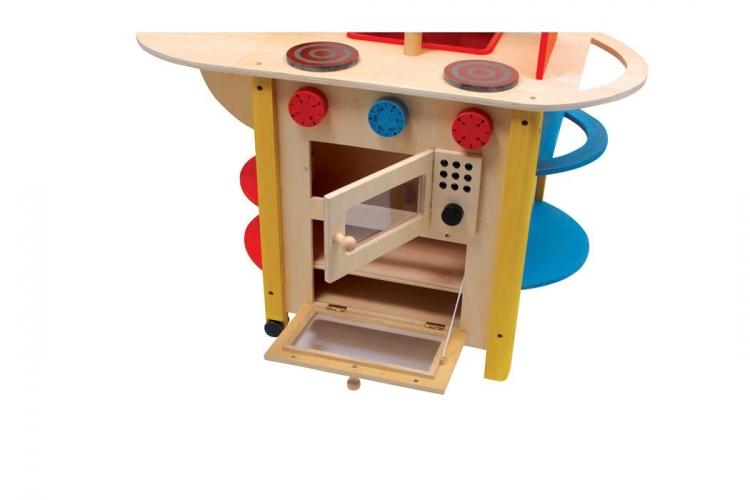 holz kinderk che k che kinder all in one deluxe. Black Bedroom Furniture Sets. Home Design Ideas