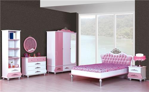 6er set kinderzimmer prinzessin kinder bett m dchen pink. Black Bedroom Furniture Sets. Home Design Ideas