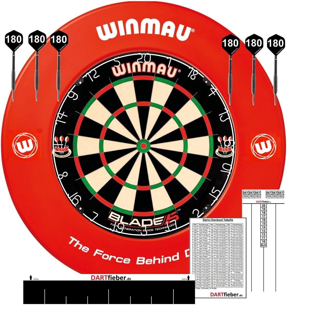 Winmau Surround Wandschutz!! Neu Bristle Sisal Dartscheibe Winmau Blade 5 inkl